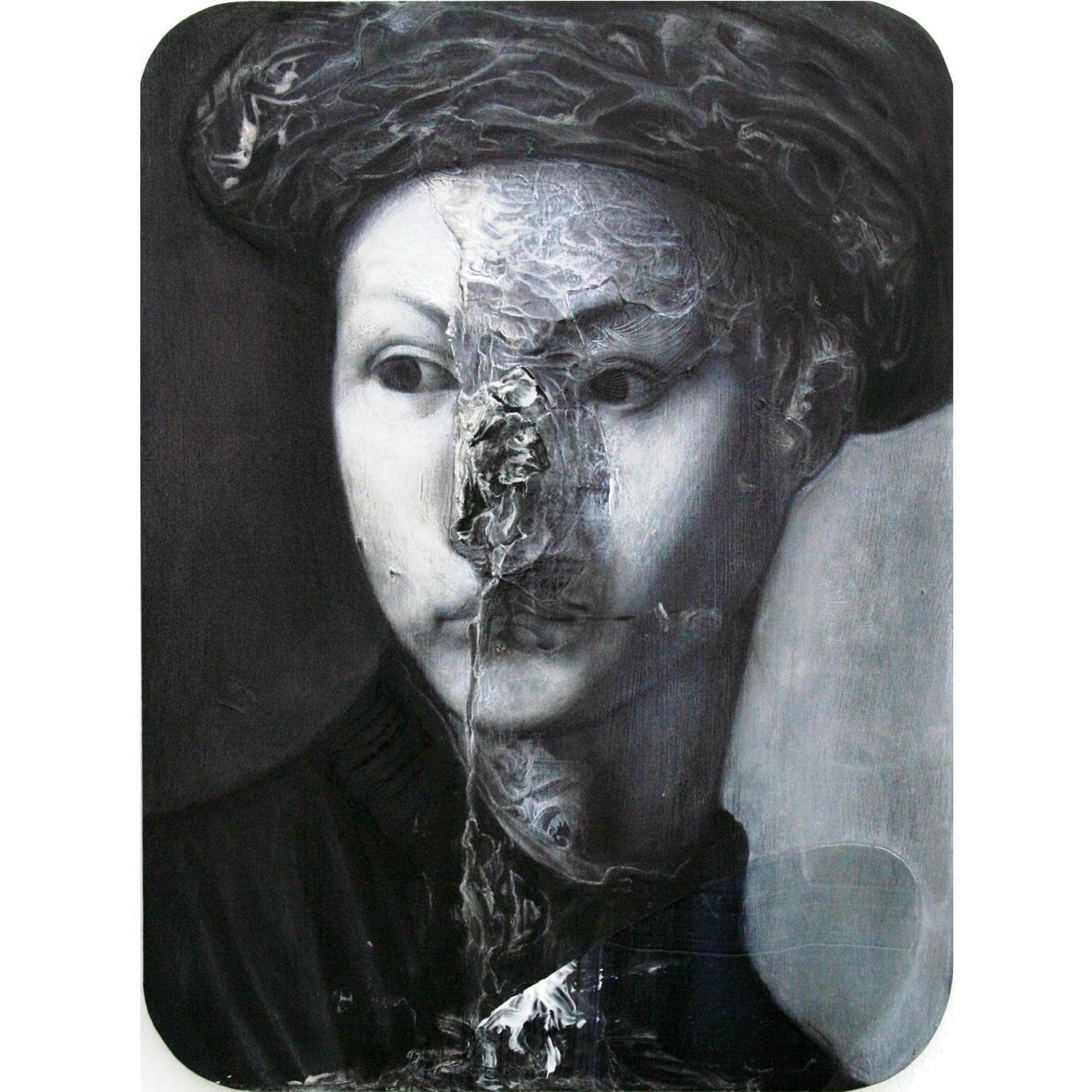 3) Untitled (2017) - 30x40cm - mixed media on wood - Copia